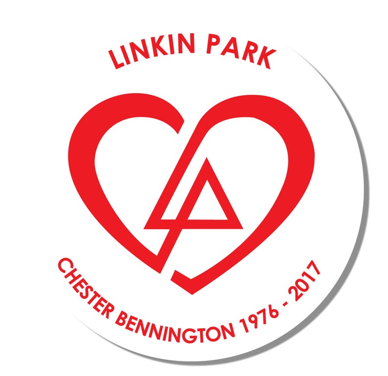 Linkinpark Heart Logo Design Chester Bennington Sticker Decal Rw