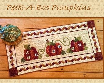 Peek-A-Boo Pumpkins Table Topper