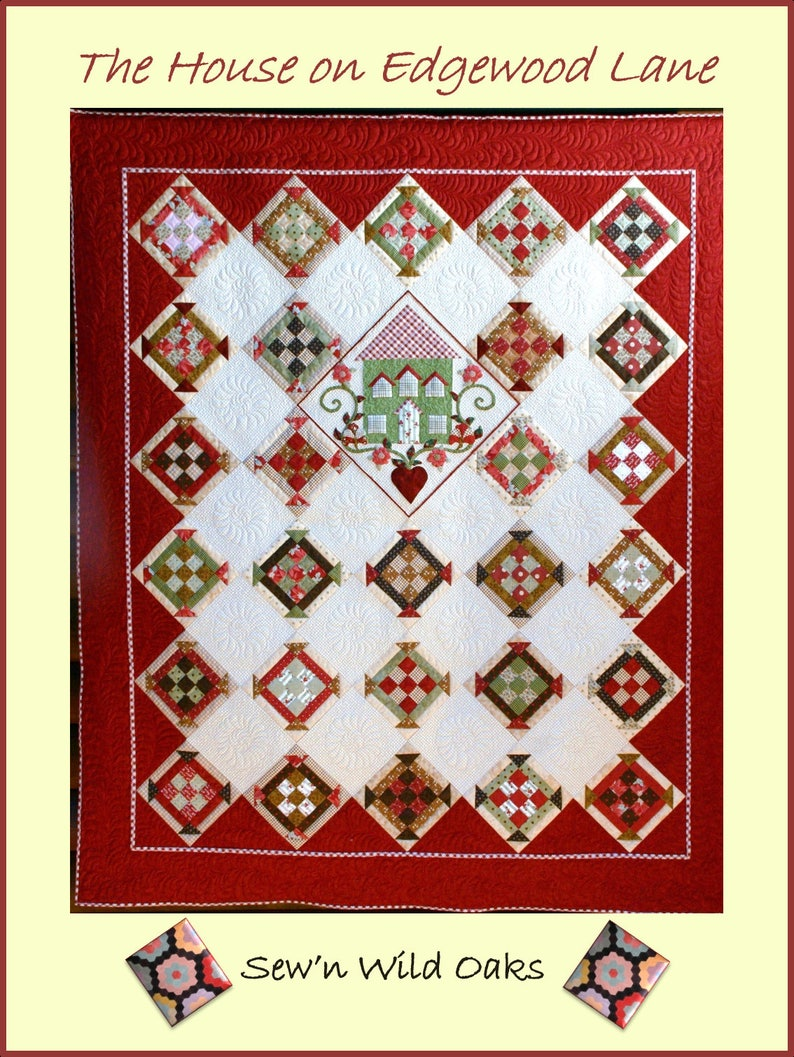 The House on Edgewood Lane Quilt Pattern image 0