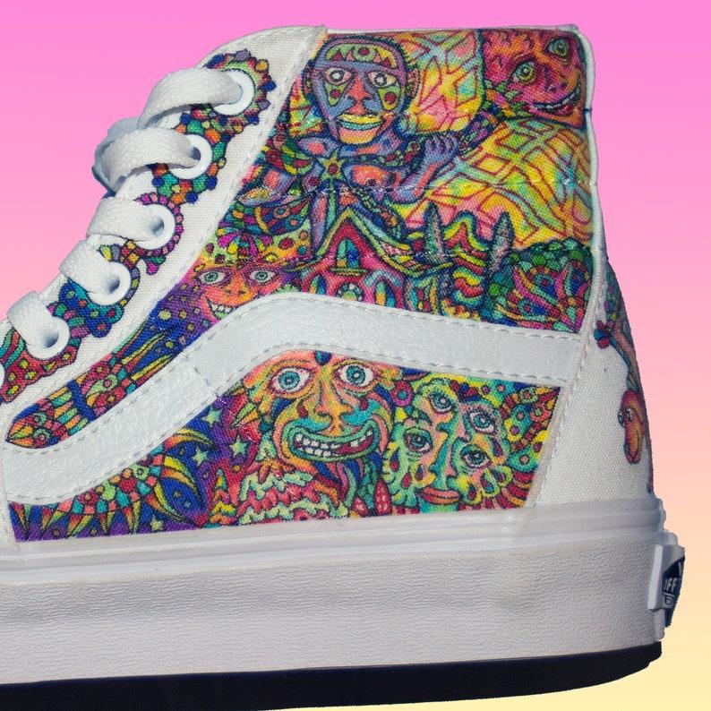 686d33753bc3 REAPER Vans Sk8 Hi    Custom Shoes    Hand-Drawn Shoe Art