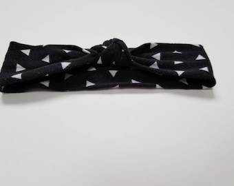 Black Top knot headband