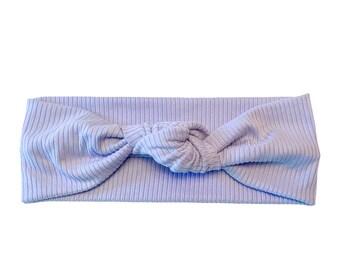Light Blue ribbed headband