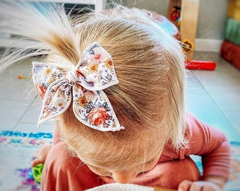 Floral tied bow