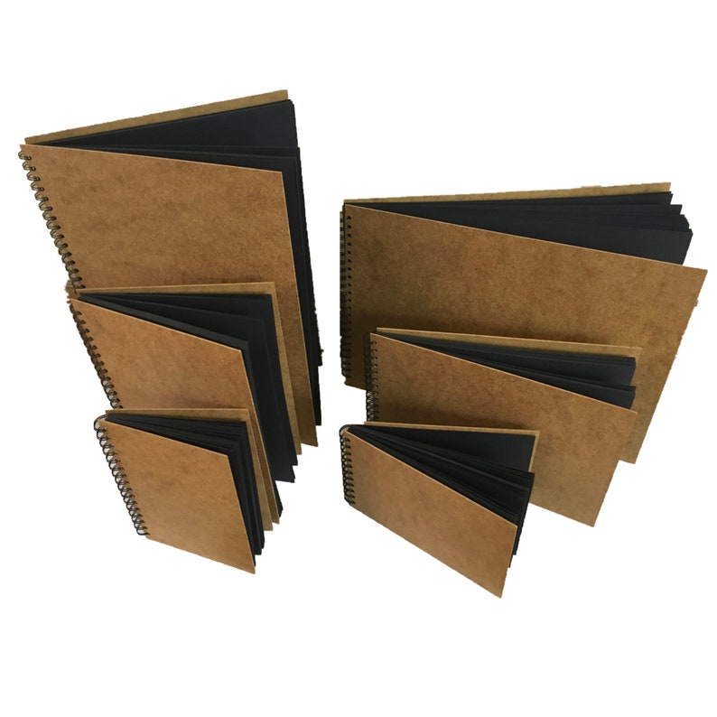 Eco-Arts Professional Quality Scrapbook 5 Pastel Colour Card Book with Wooden Cover wirobound 60 Pages of 220 GSM Quality Card.Comes in 3 Sizes a3 a4 a5 Portrait or Landscape