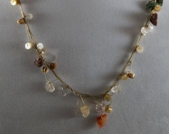 Beach net necklace