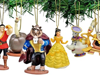 disneys beauty and the beast holiday ornament set of 6