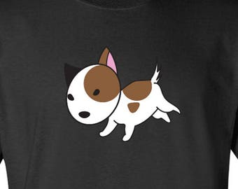 Cute Jack Russell Terrier Dog by J.L. logo Graphic T Shirt