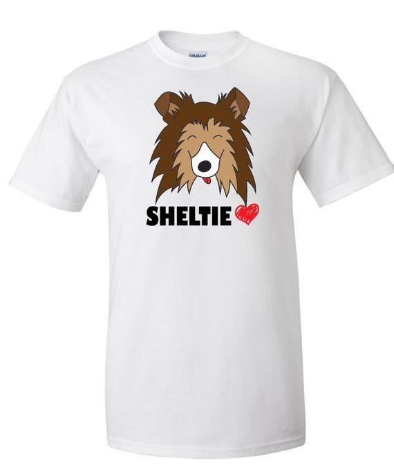 Mon coeur de berger de Shetland Sable graphique Sheltie personnalisé graphique Sable Logo T Shirt - unisexe 827c9b