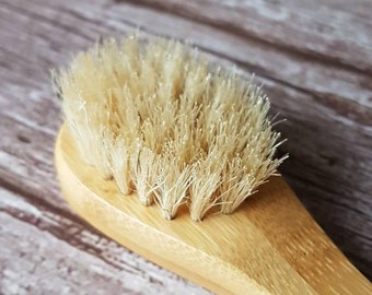 Exfoliation face cleansing bamboo brush, bath and beauty brush