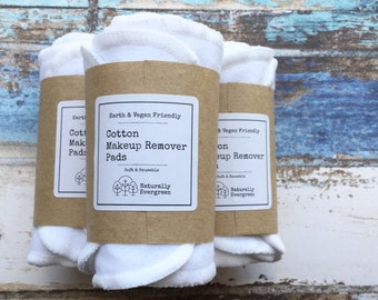 10x Cotton makeup remover pads, Eco beauty