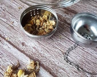 Tea strainer, reusable metal tea infuser