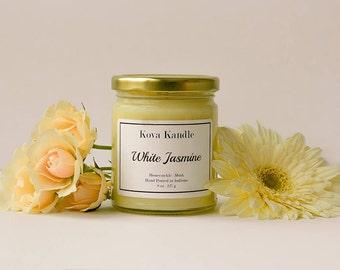 White Jasmine - Modern Jar Soy Candle | Mother's Day Gift