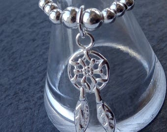 Dreamcatcher stretch and stack 925 Sterling Silver Ring