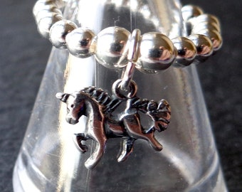 Unicorn stretch and stack 925 Sterling Silver Ring