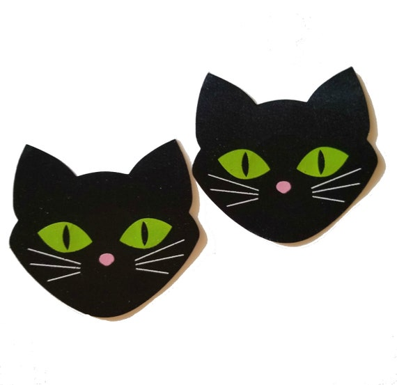 Cats Glow Dark Halloween Nipple Covers Self Adhesive Breast Pasties Bra Sticker
