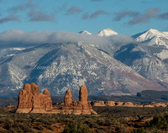 Arches National Park, Photo,Utah, sandstone, red rock, snow,Nature Photography, Landscape photography,Wall Decor, Print, Canvas, Metal Art