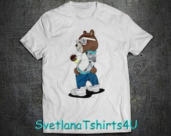 f805aa06f01 Kanye West Bear shirt