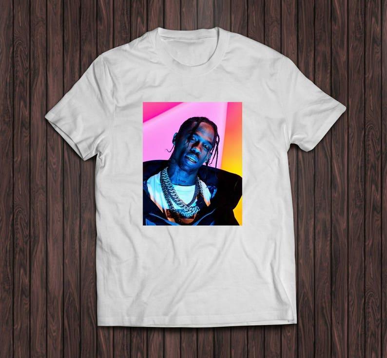 b4512c2926df Travis Scott white shirt   Etsy