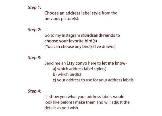 Custom Bird Address Labels Handmade By Birdsandfriends Etsy