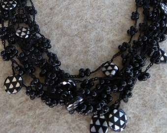 Handmade necklace in the style of Art Deco
