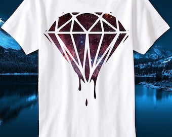 a7120891e T-Shirt Dripping Diamond Diamant Hipster Swag Dope Space Boy Universe London