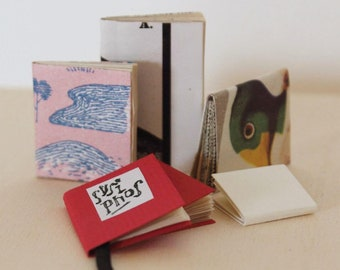 "Dollhouse miniatures: handmade ""Sisyphos"" and five other tiny books"