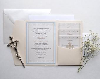 St Joseph Catholic Wedding Invitation Holy Matrimony Etsy