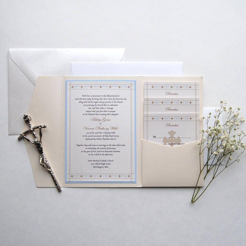 Catholic Wedding Invitations: St. Anthony Catholic Wedding Invitation Holy Matrimony