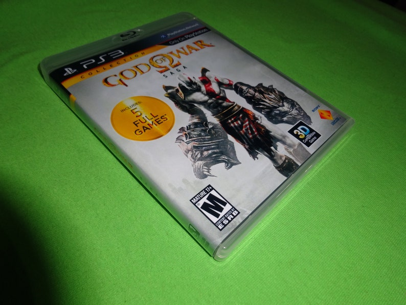 Empty Replacement Case God of War Saga Collection 1 2 3 Sony PlayStation 3 PS3