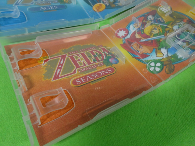 Empty Cases Legend of Zelda Oracle of Seasons Ages GBA Gameboy Advance Color