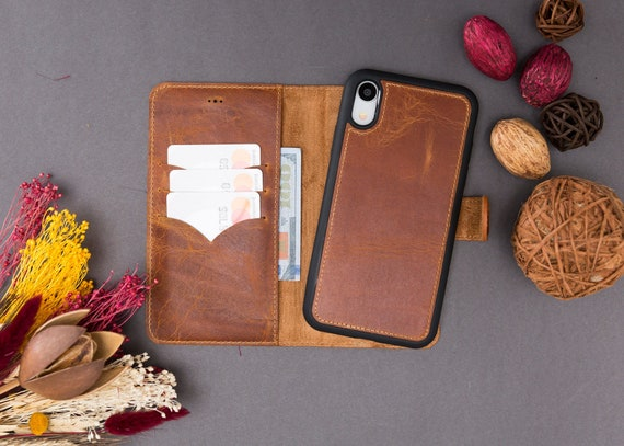 IPhone Xr Case Leather iPhone Xr Wallet Case iPhone Xr | Etsy