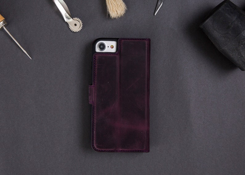 Leather iPhone 78 SE 2020 Case with Wallet and Card Holder Custom iPhone 78 Plus Phone case