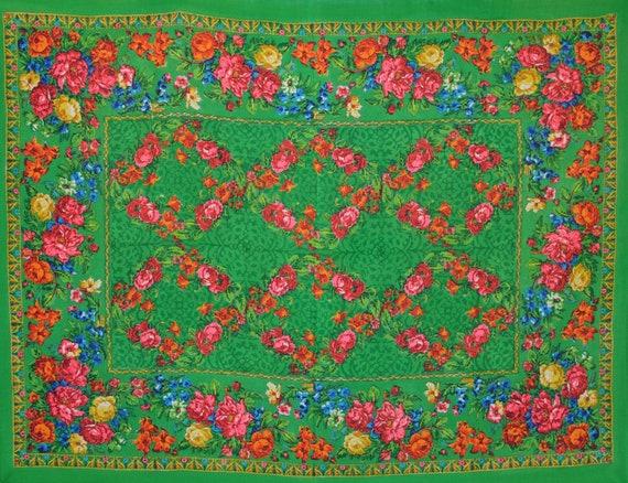 VINTAGE Russia shawl, Russia blanket, Pavlovo Posa