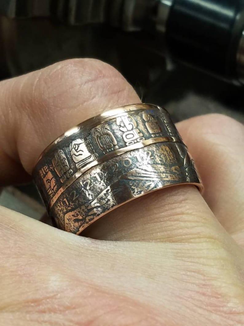 Mayan Calendar 1 oz Copper Coin Ring