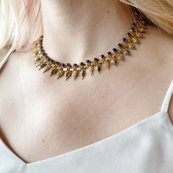 Victorian Egyptian Revival Collar - image 2