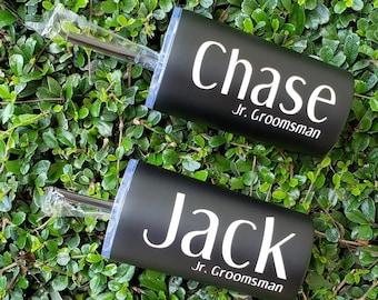 Junior Groomsman Mini Tumblers - Gifts For Him - Kid Tumbler - Custom Tumbler