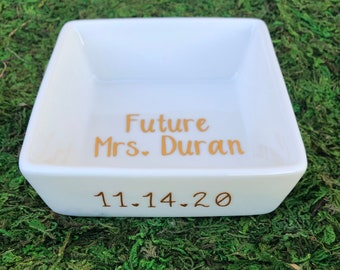Future Mrs. Ring Dish | Ring Dish for bride | Bride Dish