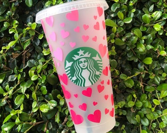 Ombre Hearts Reuseable Starbucks cup | Valentine's Tumbler | Valentine's Gift