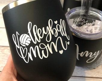 Personalized Volleyball Mom | Wine Tumbler | Gift | Wine Lover