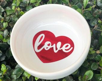 Love Ring Dish | Jewelry Dish | Heart Ring Dish | Valentine's Day Gift