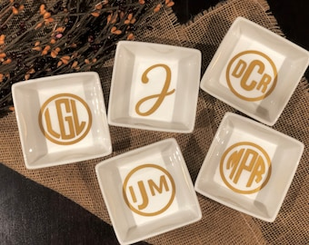 Personalized Ring Dish Personalized Bridesmaid Gifts Personalized Jewelry Dish Monogram
