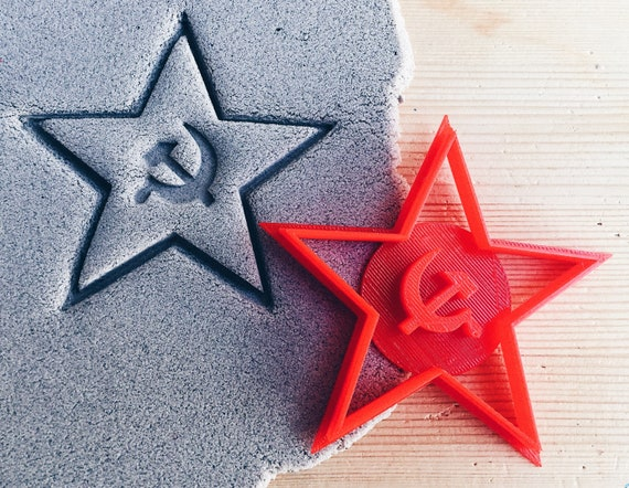 Red Star Hammer And Sickle Cookie Cutter Etsy