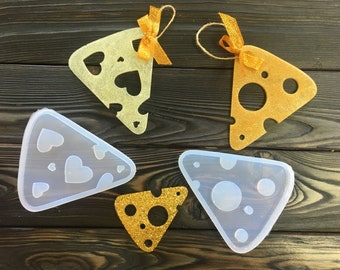 Cheese Pieces Slices Silicone mold