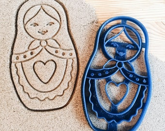 Matryoshka Nesting doll with heart Cookie Cutter