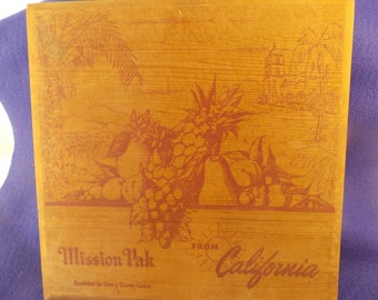 Items Similar To Vintage Quinbys Chocolate Shop California Redwood