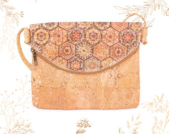 Shop YOKCORK Eco-responsible crafts Small bag made of blue cork bark Adapted to veganism
