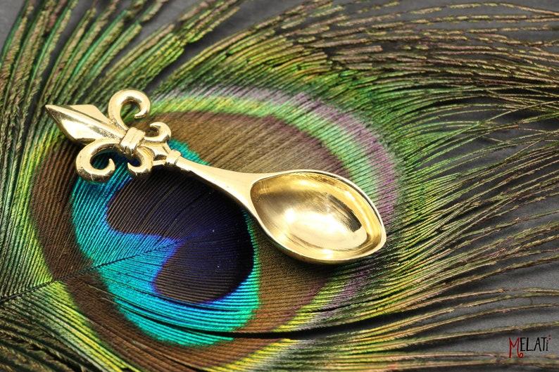 Spoonnecklace brass chain pendant spoon in brass brass chain with small spoon brass necklace spoon boho spoon pendant brass