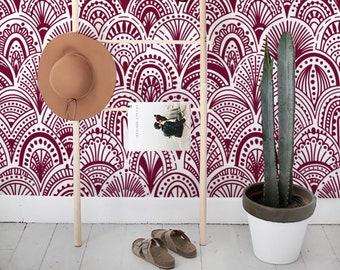 Burgundy Bohemian Removable Wallpaper