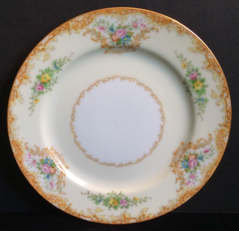 Optional Dessert Plate Vintage Mismatched Place Setting Square Salad Plate Wedding Gold Trim Bridal Shower Gilding Tea Cup and Saucer