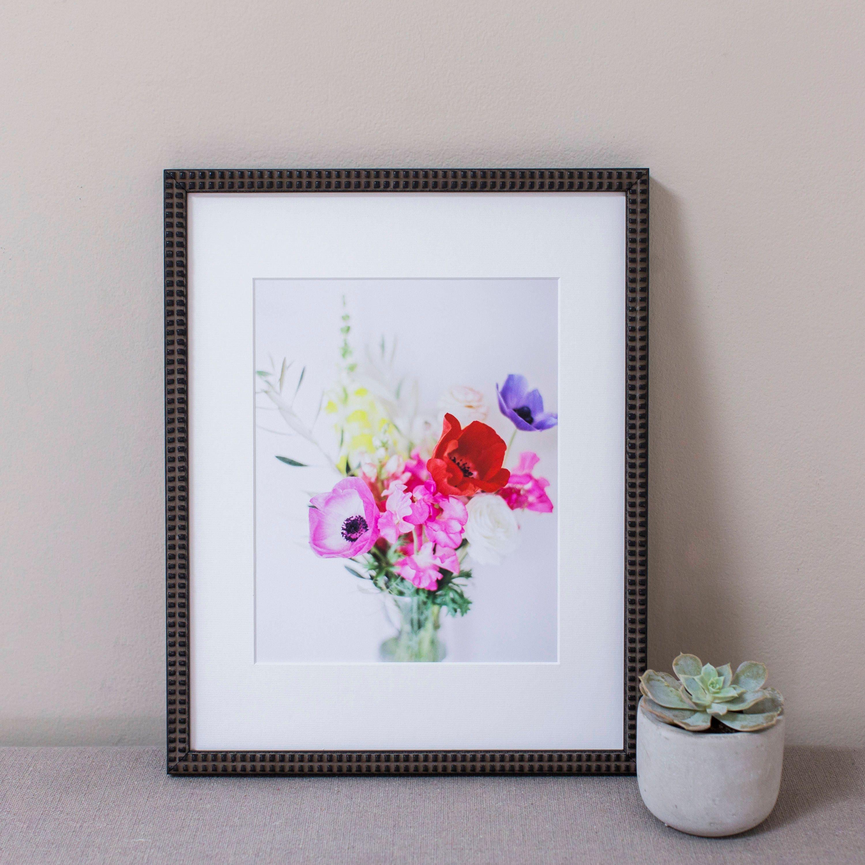 Eclectic Floral Bouquet Photograph, Wall Art, Framed Print